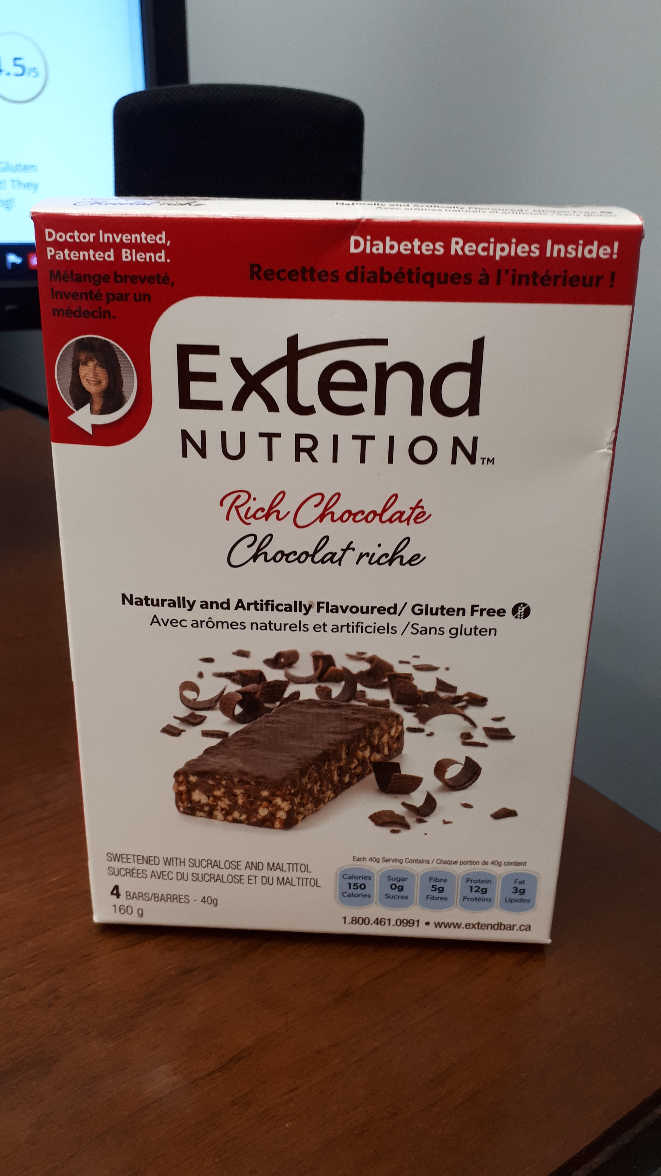 Extend Nutrition Bars - Rich Chocolate reviews in Protein ...
