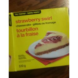 No Name strawberry swirl cheesecake