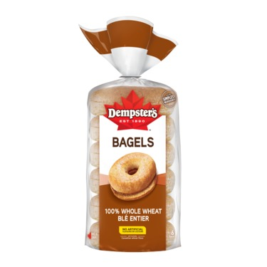 Dempster's 100% Whole Wheat Bagels