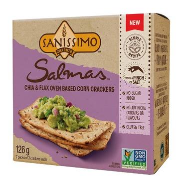 Sanissimo Salmas Chia and Flax Oven Baked Crackers