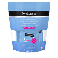 Neutrogena All-in-One Make-up Removing Cleansing Wipes Singles
