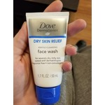 Dove dry skin relief face wash