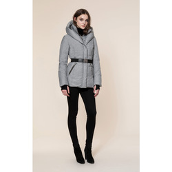 Soia & Kyo TALLIA Water Repellent Brushed Down Coat with Removable Belt
