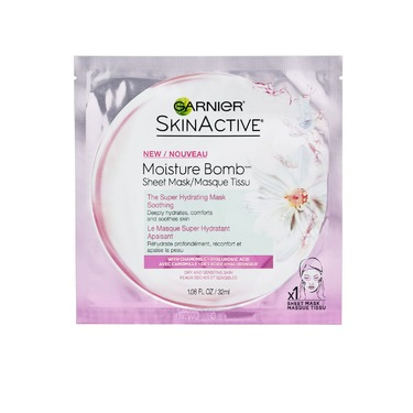 Garnier SkinActive Moisture Bomb Sheet Mask The Super Hydrating Soothing with Chamomile & Hyaluronic Acid