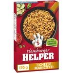 Hamburger helper three cheese manicotti