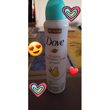 Dove Go Fresh Pear & Aloe Vera Scent Dry Spray Antiperspirant