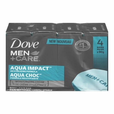 Dove Men+Care Aqua Impact Revitalizing Formula Body & Face Bar