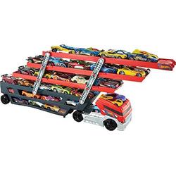 Hot Wheels Mega Hauler and 4 Cars