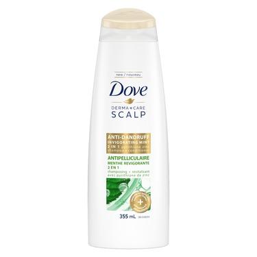 Dove Derma+Care Scalp Invigorating Mint 2-in-1 Shampoo and Conditioner