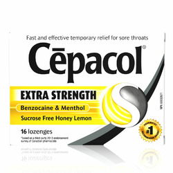 Cepacol Extra Strength Honey Lemon Lozenges