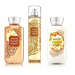 Bath and body works warm vanilla sugar body care set