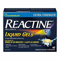 Reactine Allergy Liquid Gels 24-Hour