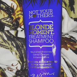 Not your mother's Blonde moment shampoo