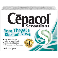 Cepacol Sensations- Sore Throat & Blocked Nose