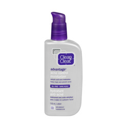 clean and clear advantage acne control moisturizer