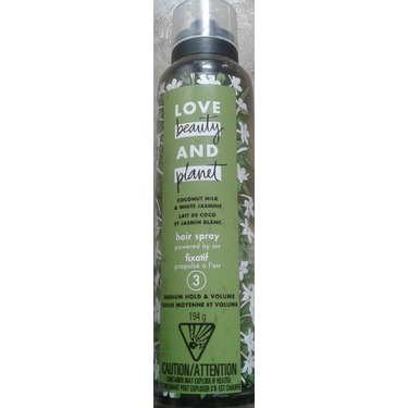 Love Beauty & Planet Coconut Milk & White Jasmine Medium Hold & Volume Hair Spray (level 3)
