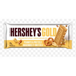 Hersery's Gold Peanuts and Pretzels bar