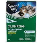 special kitty clumping antibacterial multi-cat scented litter