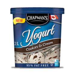 Chapmen's Cookies & Cream Frozen Yogurt