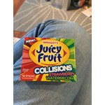 Wrigley's Juicy Fruit Collisions Stawberry Watermellon Sugar Free Gum