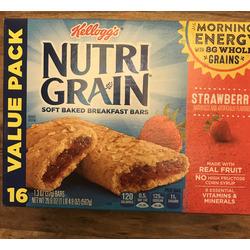 kelloggs nutri grain soft baked breakfast bars strawberry