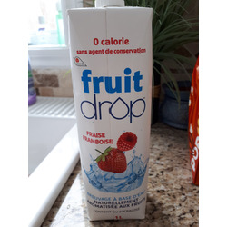 fruit drop fraise framboise