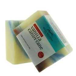 Rocky Mountain Soap Company Vanilla Candy Cane Bar Soap