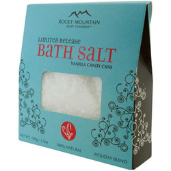 Rocky Mountain Soap Company Vanilla Candy Cane Bath Salt