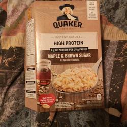 Quaker oats Maple Brown sugar high protein