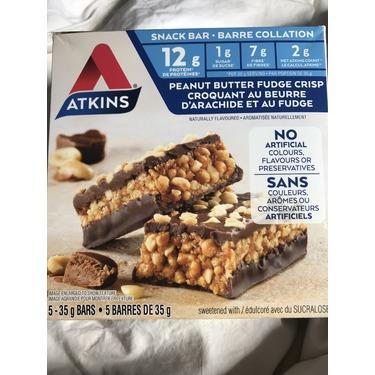 Atkins peanut butter fudge crisp