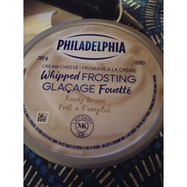 Philedelphia whipped cream cheese frosting