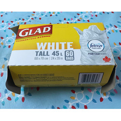 Glad Febreze Scented Tall White Garbage Bags