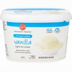 Western Family Light Vanilla Ice Cream (No Sugar Added)