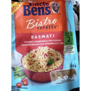 uncle ben's bistro express basmati coconut, lemongrass & chili flavour