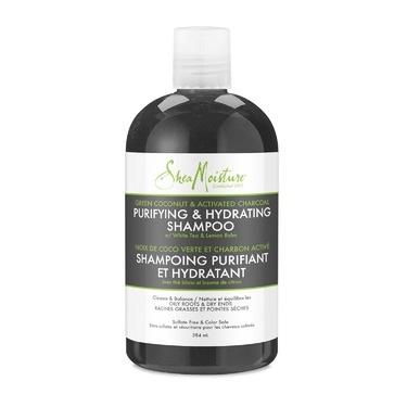 Shea Moisture Green Coconut & Activated Charcoal Purifying & Hydrating Shampoo