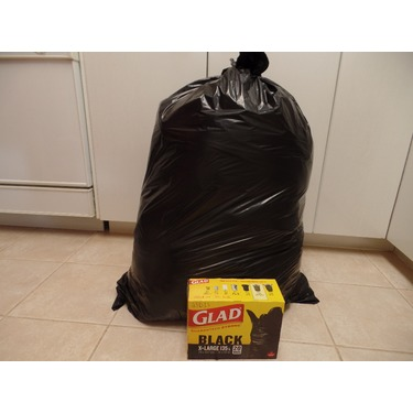 Glad Black Garbage Bags Extra Large 135 Liters 20 Trash