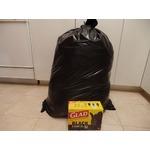 Glad Black Garbage Bags - Extra-Large 135 Liters - 20 Trash Bags