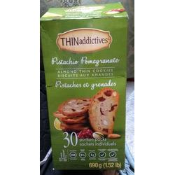 Thinaddictives pistachio pomegranate almond thin cookies