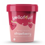 Yellofruit non-dairy frozen banana dessert: Strawberry