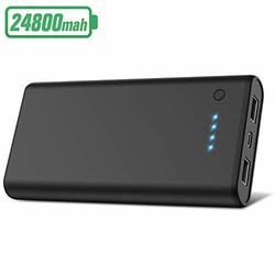 Power Bank 24800mAh, Gixvdcu Portable Phone Charger External Battery Charger