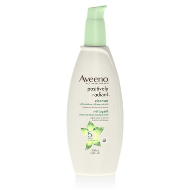Aveeno Positively Radiant Cleanser