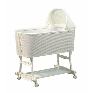 Burlington Baby Wicker Bassinet Cradle, White