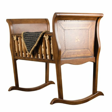 Green Frog Art Rocking Baby Cradle, Oxford