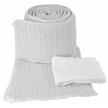 Tadpoles Cotton Cable Knit Cradle Set, White