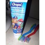 Orajel training toothpaste paw patrol