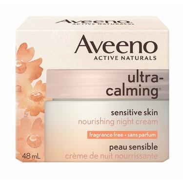 Aveeno Ultra Calming Night Moisturizer, Cream for Dry and Sensitive Skin
