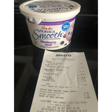 Gay Lea Nordica Smooth Cottage Cheese in Blueberry Açai