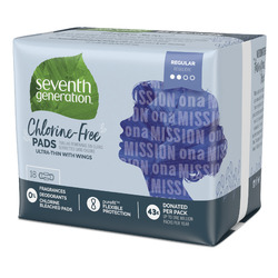 Seventh Generation Chlorine-Free Regular Ultra-Thin Pads with Wings