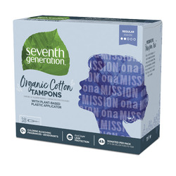 Seventh Generation Organic Cotton Tampons, Regular absorbency