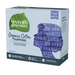 Seventh Generation Organic Cotton Tampons, Regular absorbency
